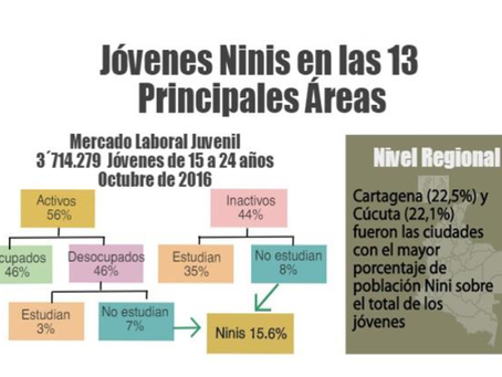 Informe: Perfil juvenil urbano de la inactividad y el desempleo en el país