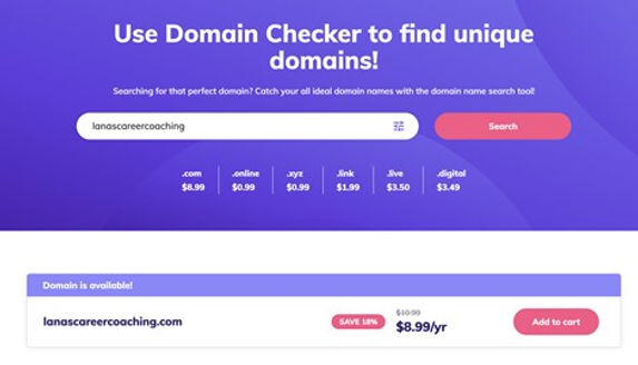 Choose the right domain