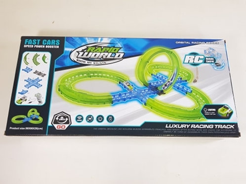 Rapid Remote Control RC Race Track Model Circuit Glow In The Dark Wireless Hot W
