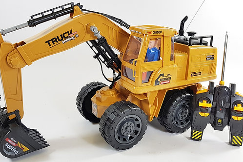 Remote Radio Control RC JCB Style Working Construction Truck Digger Excavator Mo