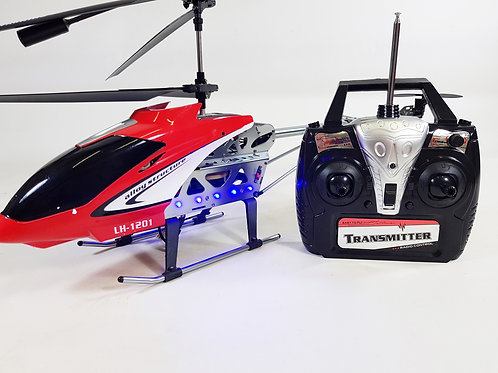 Radio Control RC Huge Alloy Shark Gyro Force X Light Up Model Helicopter LH Mode