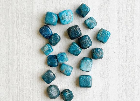 Blue Apatite Cubes