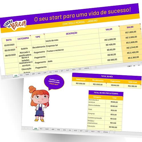 Planilha de controle financeiro - Excel