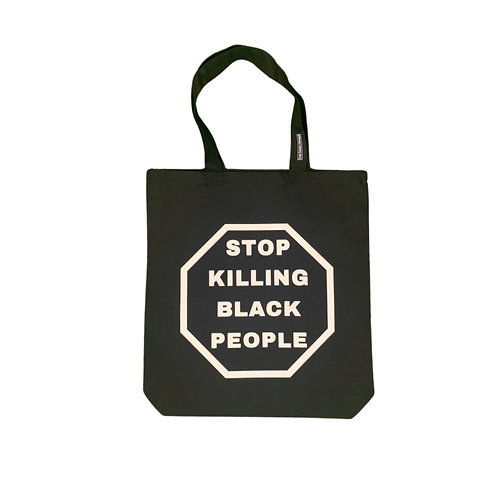 STOP KILLING BLACK PEOPLE x MURDER MUST STOP TOTE