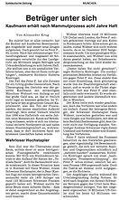Bankdirektor soll Geld schweizer Großbetrügers ergaunert