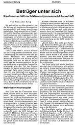 Bankdirektor soll das Geld eines Schweizer Großbetrügers ergaunert haben