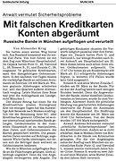 Russen Bande in München mit falschen Kreditkarten Konten abgeräumt
