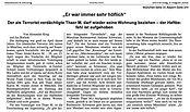 Terrorist Thaer Haftbefehl