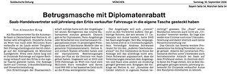 Betrug Diplomat