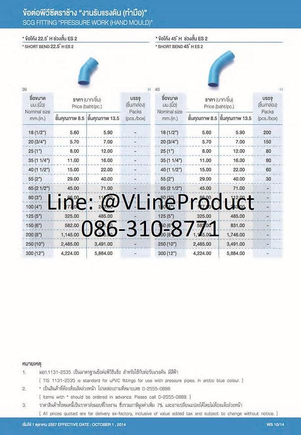 ราคาท่อpvc ราคาท่อพีวีซี ท่อสีฟ้า ท่อประปา 9