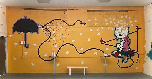 Mural painting Artist: byada Size: 29'x1