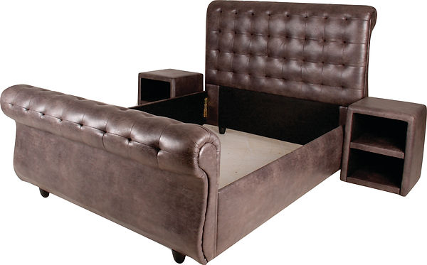 Buffalo grey sleigh bed.jpg