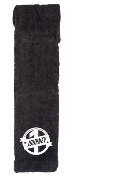 Black One Journey Sports Towel