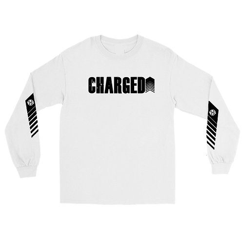 """Charged Up"" Long Sleeve T-Shirt (White)"