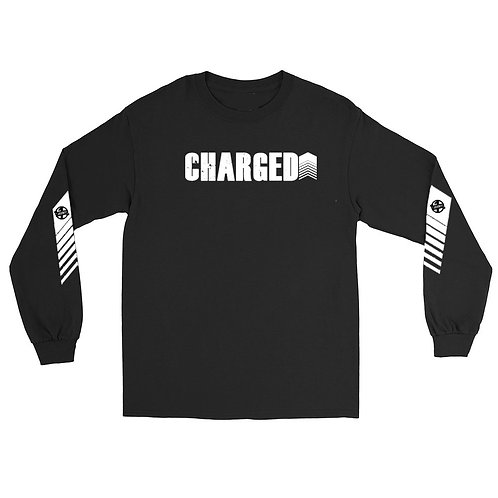 """""""Charged Up"""" Long Sleeve T-Shirt (Black)"""