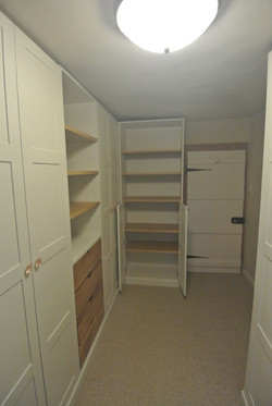 Painted and Oak fitted dressing room