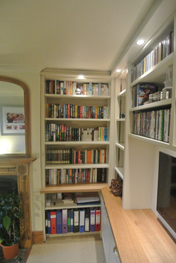 Home Office Built within Book Casses