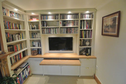 Home Office Built Within Book Cases