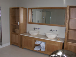 His and Hers Solid Oak Bathroom