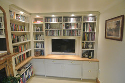 Home Office Built Wthin Book cases