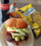 Burgers, Chips, Soda, Perfect Lunch