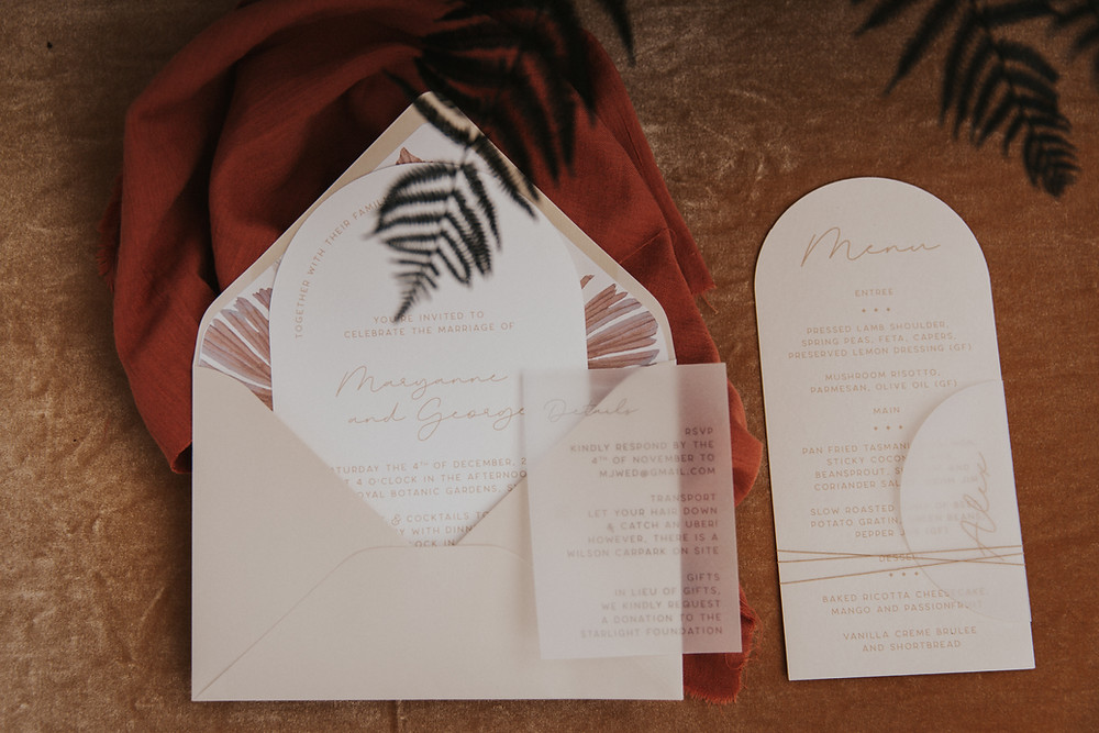 Wedding Invitation and Menu