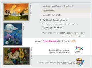 Trzech artystów w Żychlińskim Domu Kultury