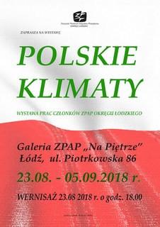 """""""Polskie Klimaty"""" w Galerii na Piętrze, ZPAP Łódź."""