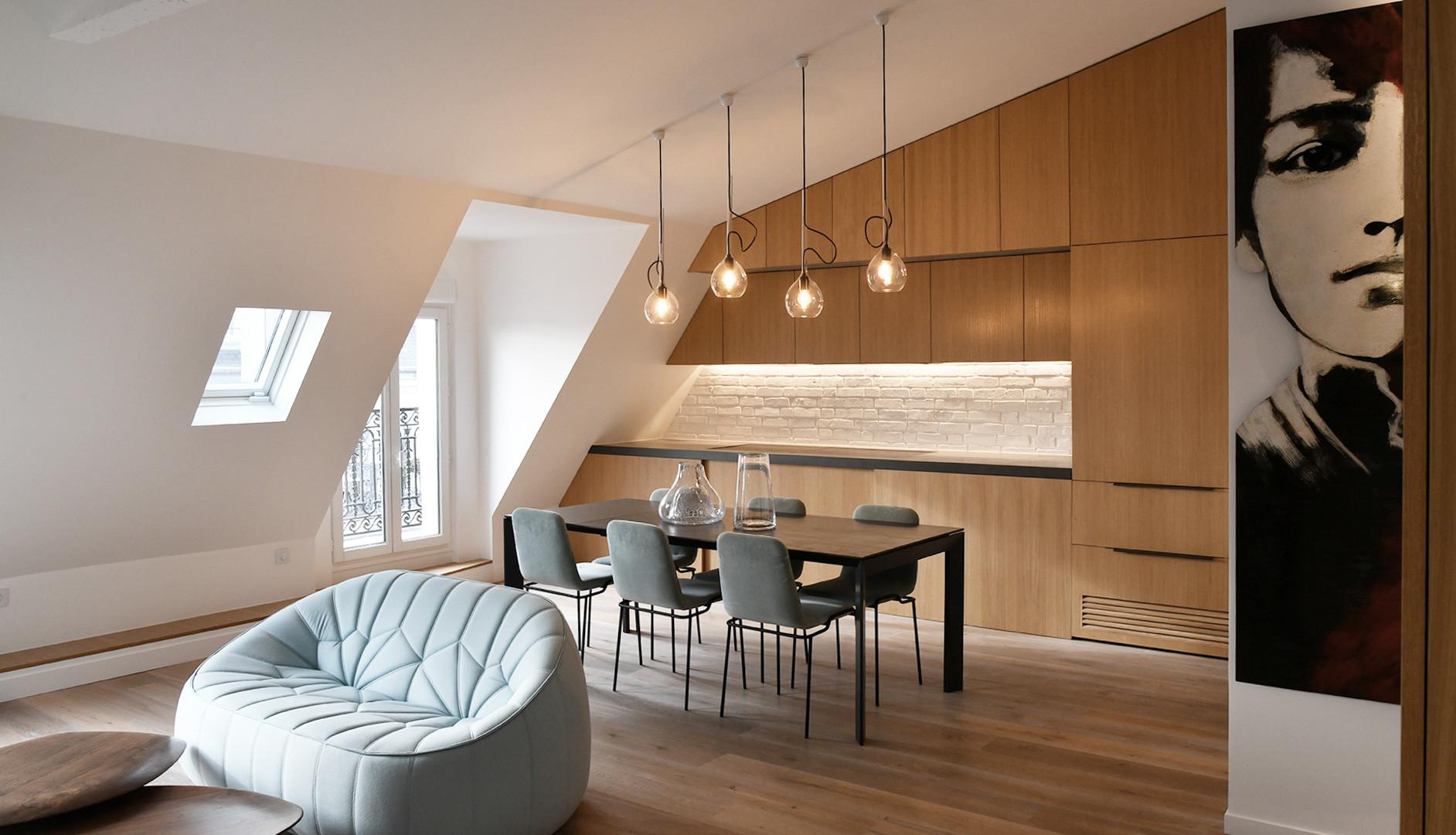 Creation d'un espace dans un style loft