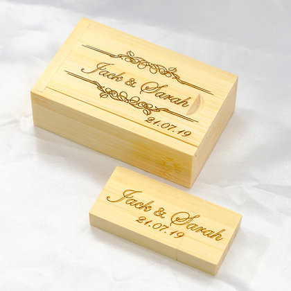 Bamboo wooden wedding pen drive 16GB USB