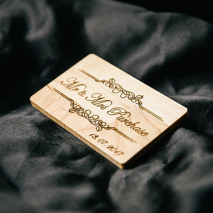 Personalised Gift Wooden USB Stick, Laser engraved Wedding Photographer, Wedding Photography, Client's package