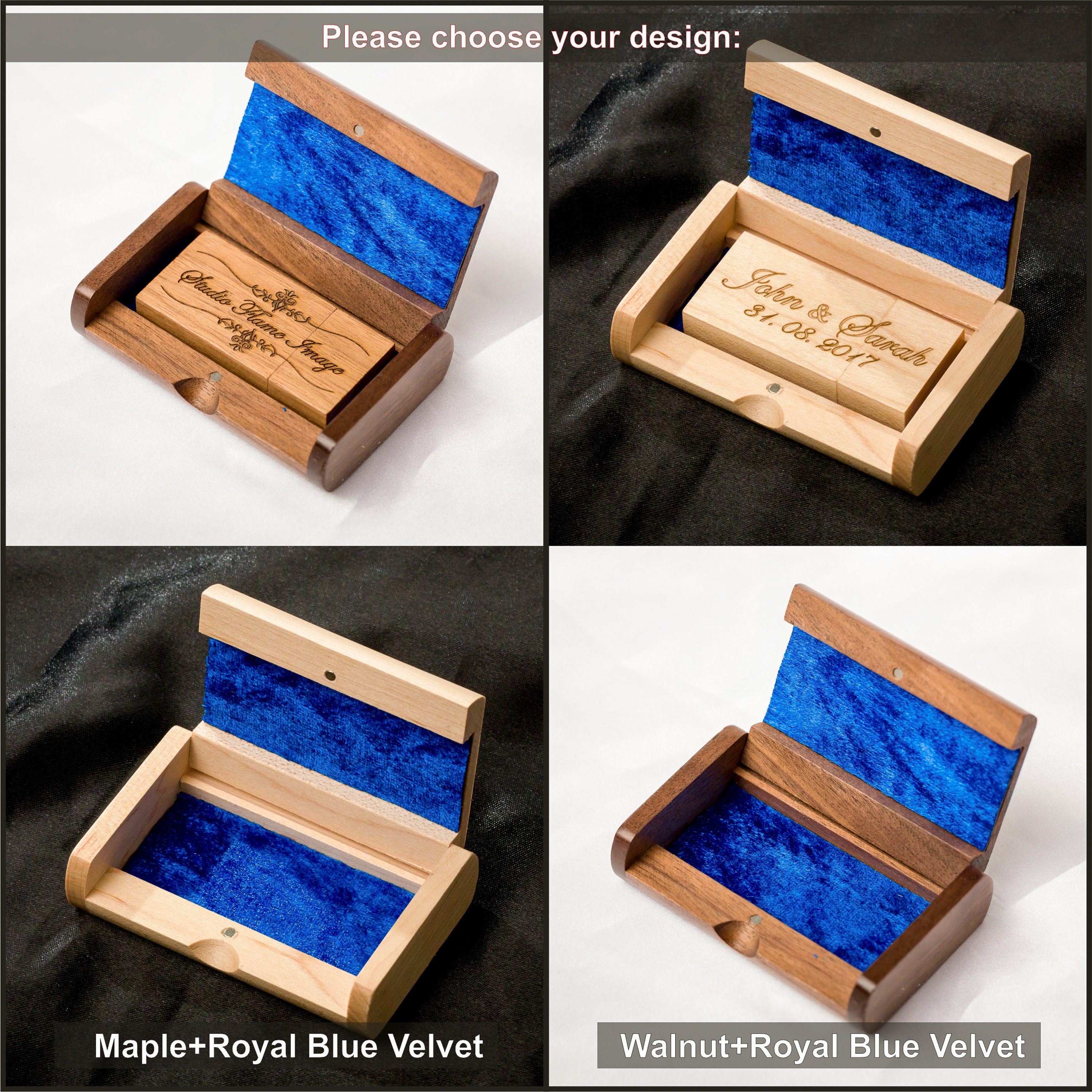 USB 3 0 16GB Personalised + Unique Wooden Box Engraved Wedding Memory Pen  Drive
