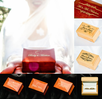Luxury Wedding Double Ring Box Mr and Mrs Mr&Mrs