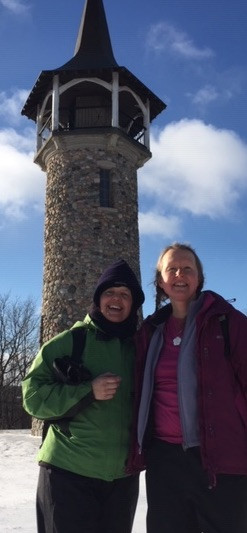 Suzie and I at Pioneer Tower!