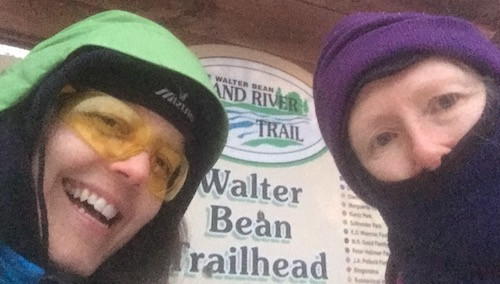 Suzie and I at the Walter Bean Trailhead