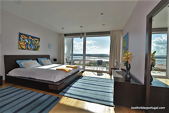 Master bedroom looking out to superb views