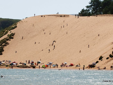The Famous Dune for sand-board and slide at Salir do Porto, Portugal