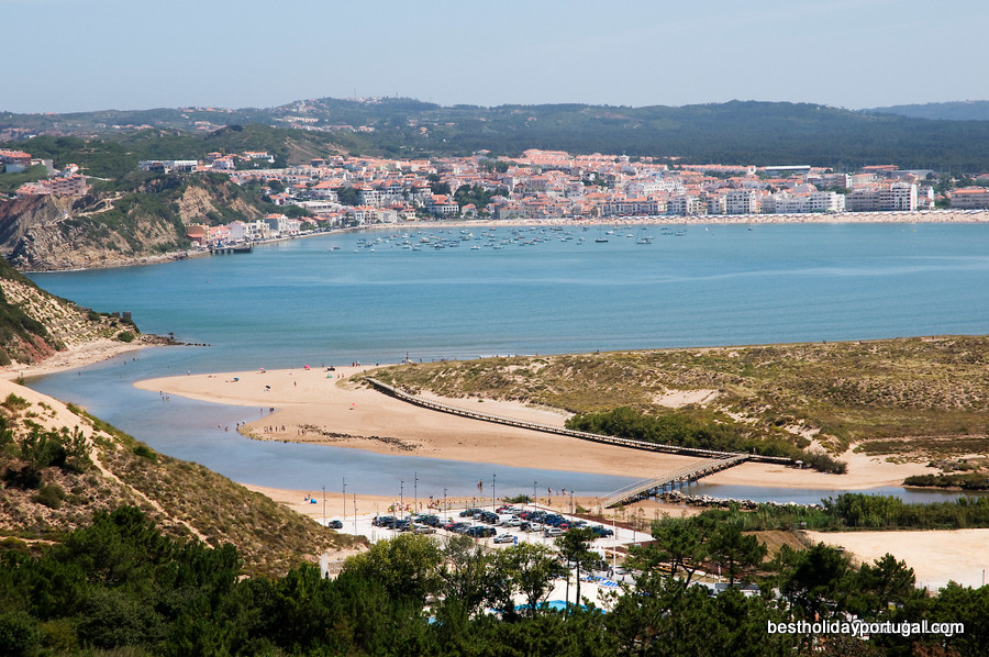 Sao Martinho do Porto bay, Silver Coast, Portugal, perfect for family holidays