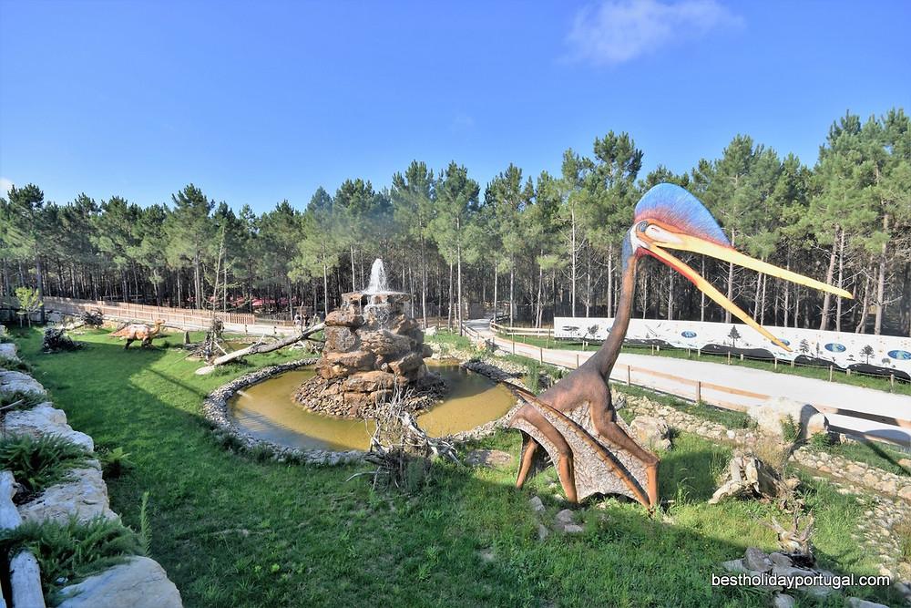 Open air Dino Park, near the holiday villa Casa do Lago