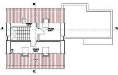 Plans of the first floor of the villa
