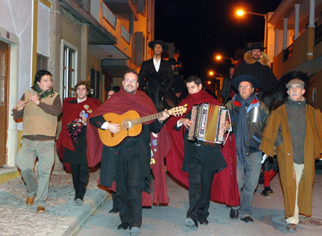 Singing the Janeiras in the streets of Portugal.