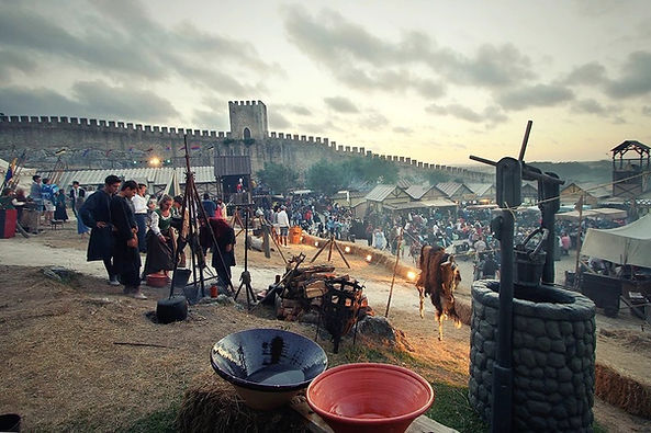 Obidos medieval fair, medieval town in Portugal