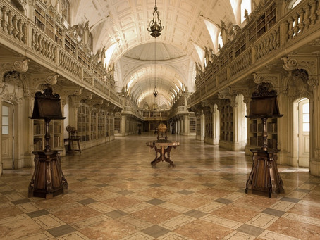 The Gourgeous Library in the Convent of Mafra at Portugal
