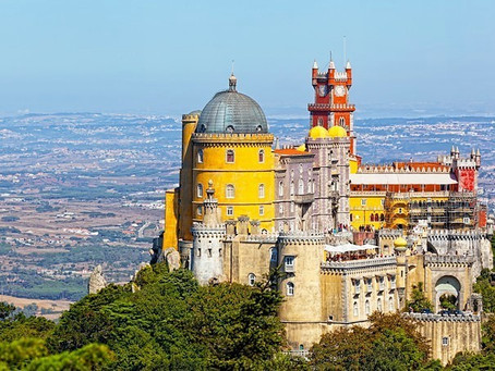 The Palace of Pena, a fairy tale place at Sintra, Portugal