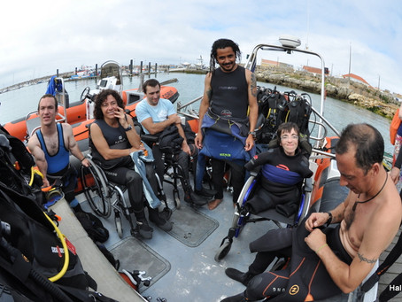 Now in Silver Coast, Portugal: Adapted Scuba Diving, ideal for physical rehabilitation of disabled.