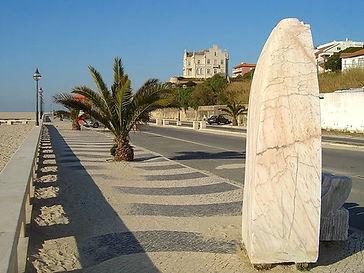 Coastal avenue in the beach of Foz do Arelho