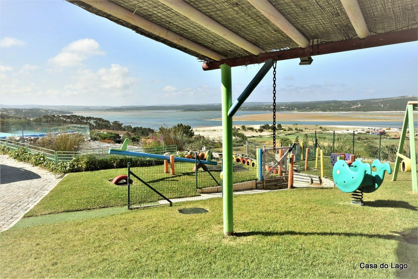 Largely fiited playground at the holiday villa Casa do Lago