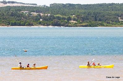 Canoeing at Foz do Arelho, Portugal