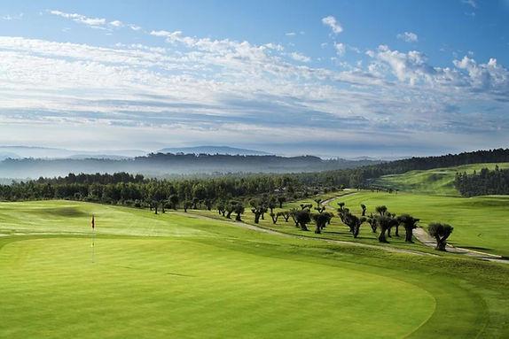 greens of Bom Sucesso golf course, Portugal