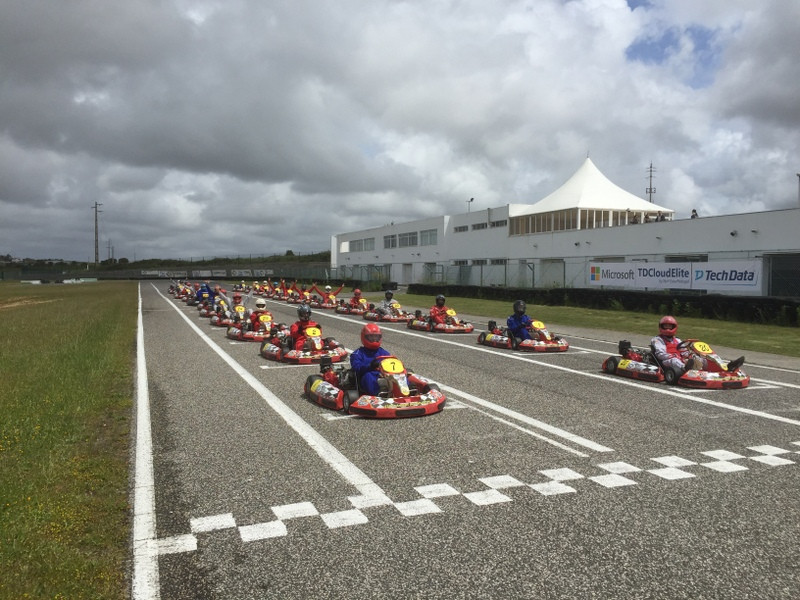 Karting contest departure, silver coast, portugal